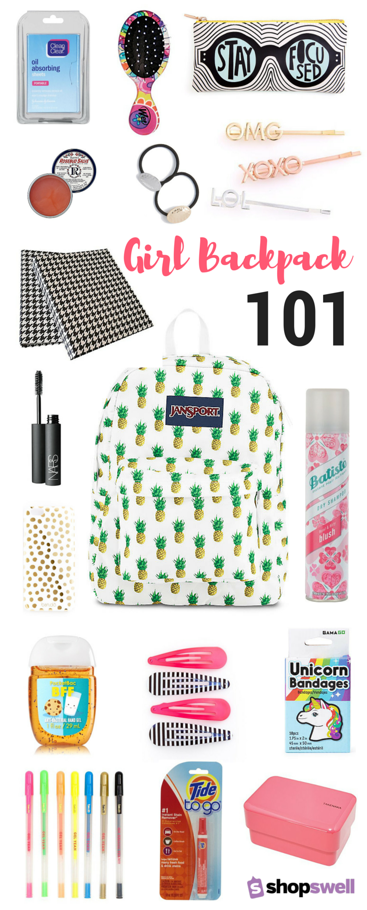 5df7bcb3d956 Being a girl is hard! That s why you need one (or ten!) of these backpack  survival essentials to get you through the school day. Shop the collection  now.