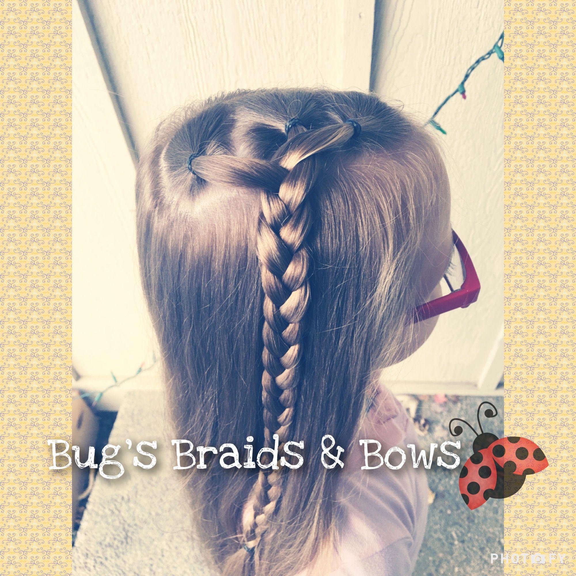 Pretty and easy before school style 💕 BugsBraidsandBows