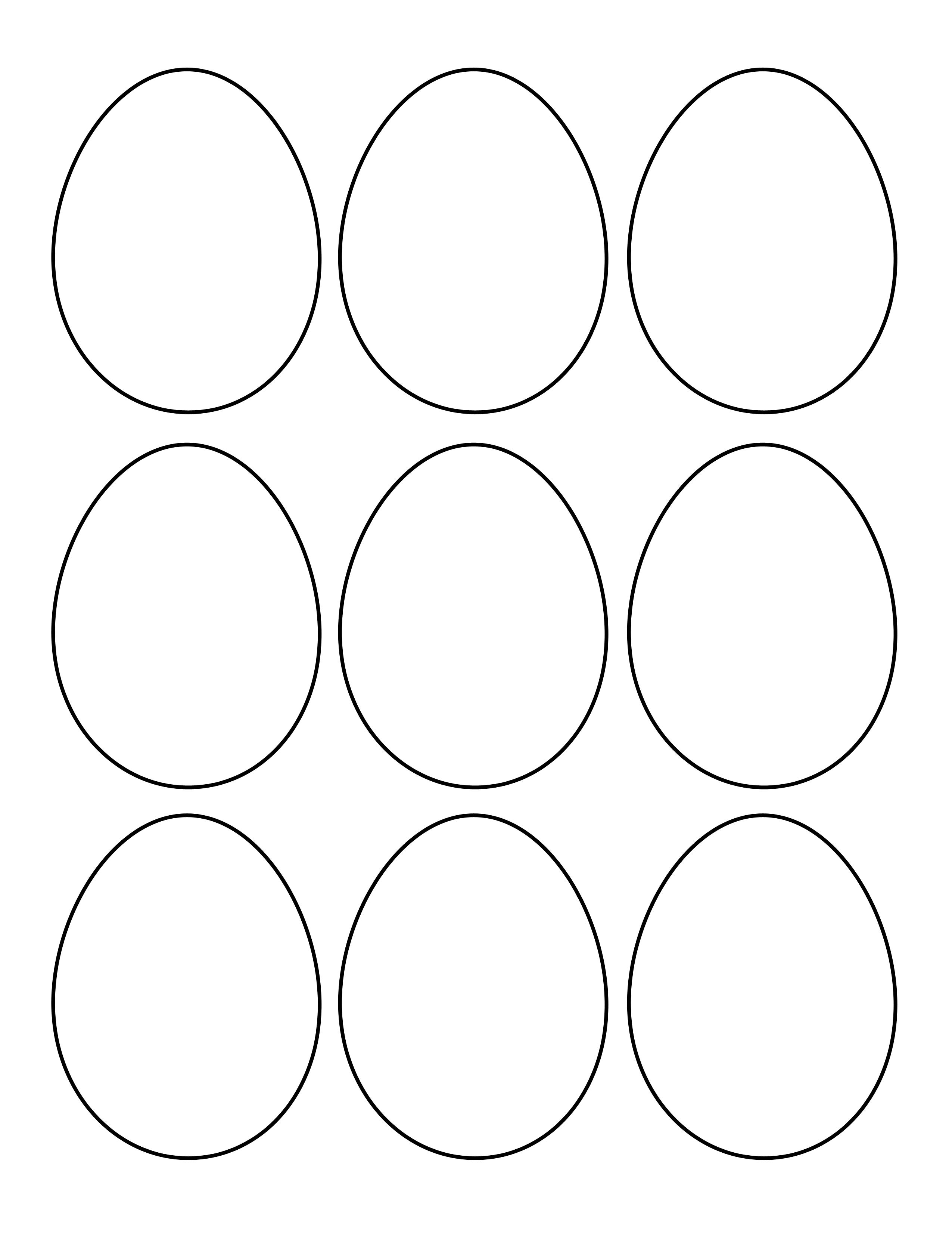 Worksheet For Preschool Egg Shape