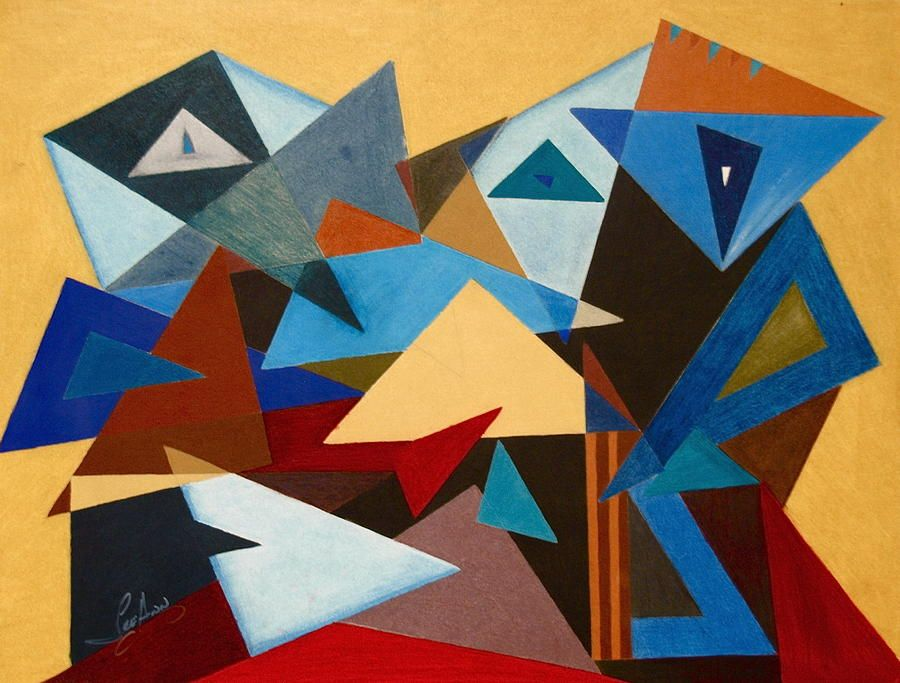 What Is Shape In Art : Shift shape painting by leeann alexander in this piece
