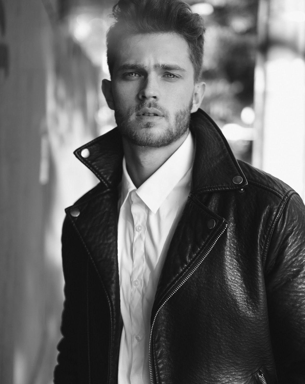 Hot Male Models Anderson Weisheimer Hot Male Models Male Models Leather Jacket Men [ 1600 x 1272 Pixel ]