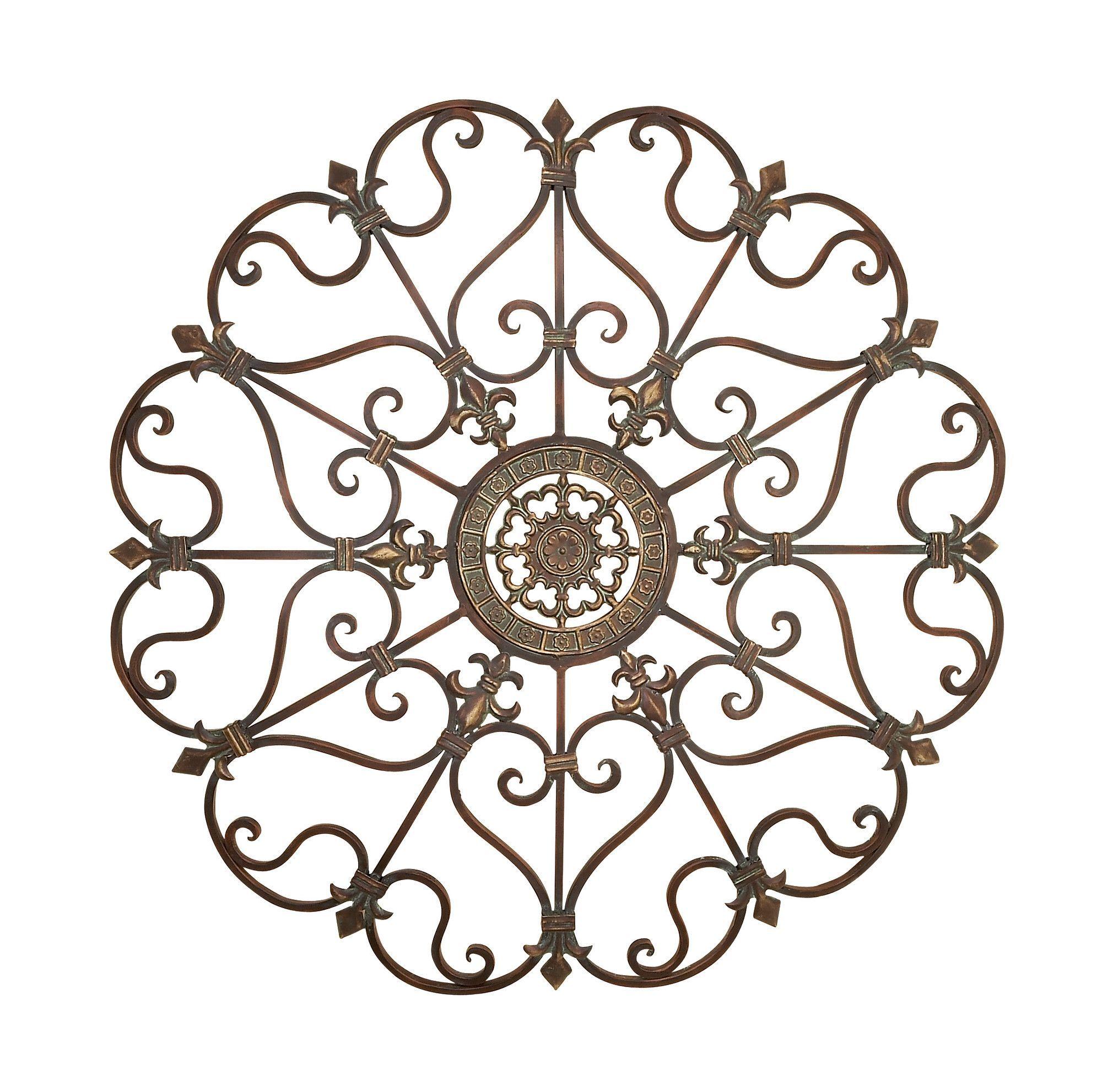Metal Fleur De Lis Scrolling Wall Décor | Products | Pinterest ...