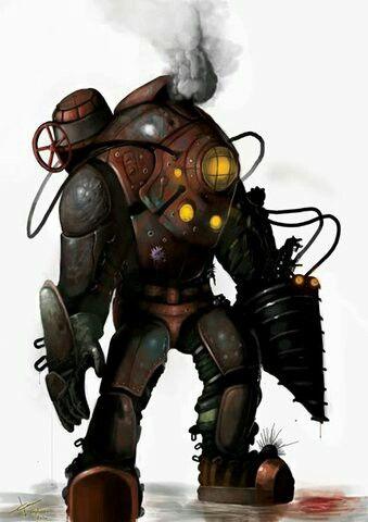 Bioshock Big Daddy Concept Art Bioshock Art Steampunk