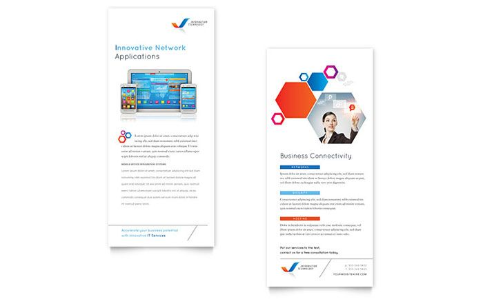 Free Rack Card Templates Download Rack Card Designs graphic