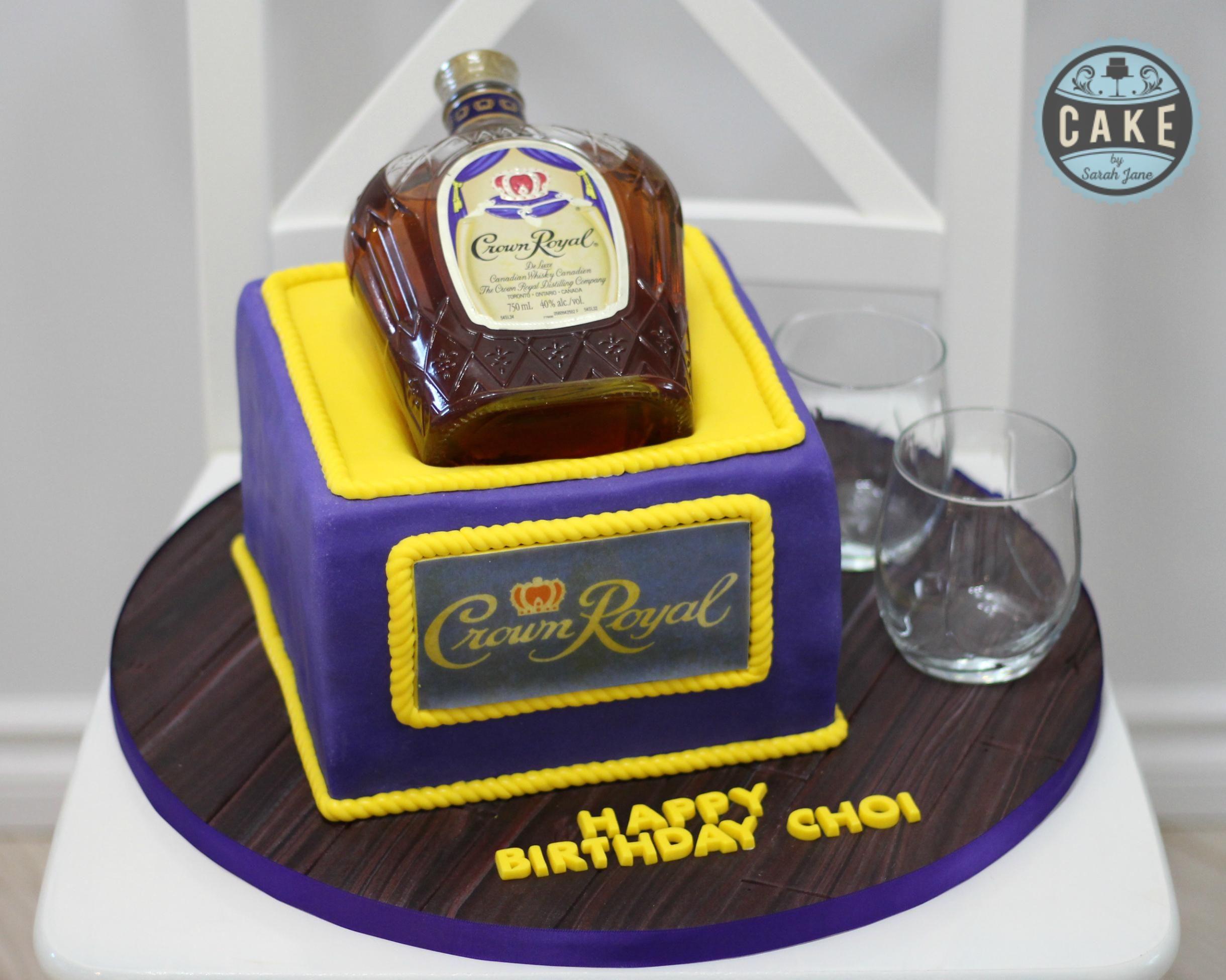 Custom Crown Royal Birthday Cake Cake By Sarah Jane Crown Royal Cake Royal Cakes Custom Birthday Cakes