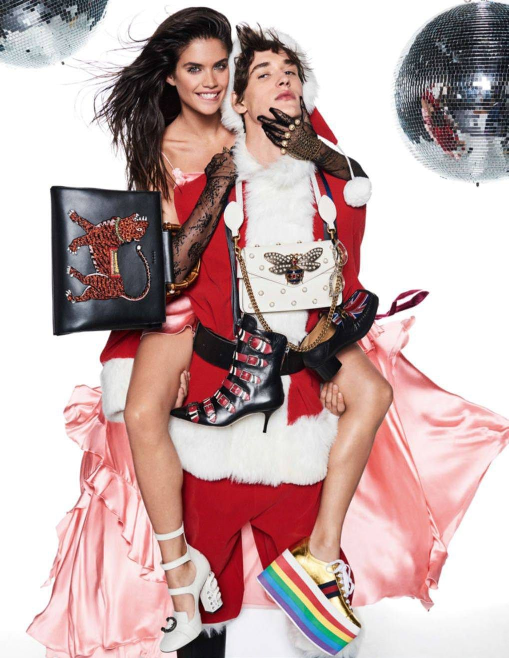 Publication: Vogue Paris December/January 2016-2017 Model: Sara Sampaio, Stella Maxwell Photographer: Giampaolo Sgura