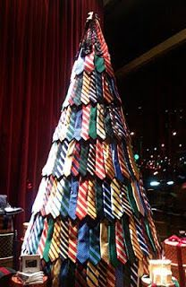 Necktie Christmas Tree. I'm putting this in my spare bedroom. Not that I wear too many ties but it's a cool idea.