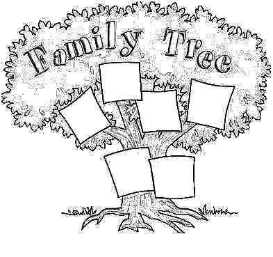 Coloring Book Free Family Tree For Kids Jpg 393 369 Pixels Free Family Tree Family Tree Family History Book