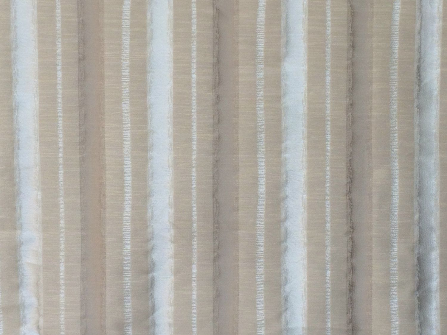 Beige Stripes Curtain Fabric By The Yard Upholstery Fabric Drapery ...