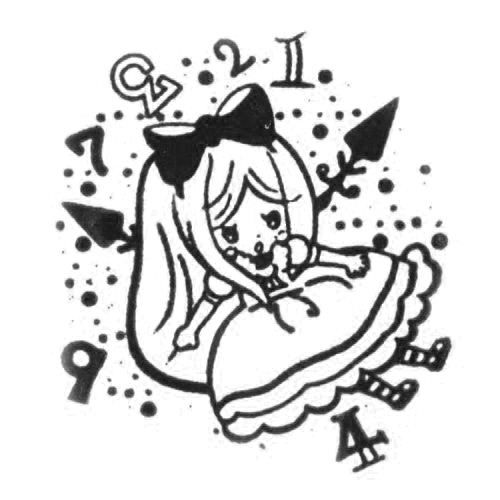 cute Alice in Wonderland stamp kawaii fairy tale  self-made stamp with cute design