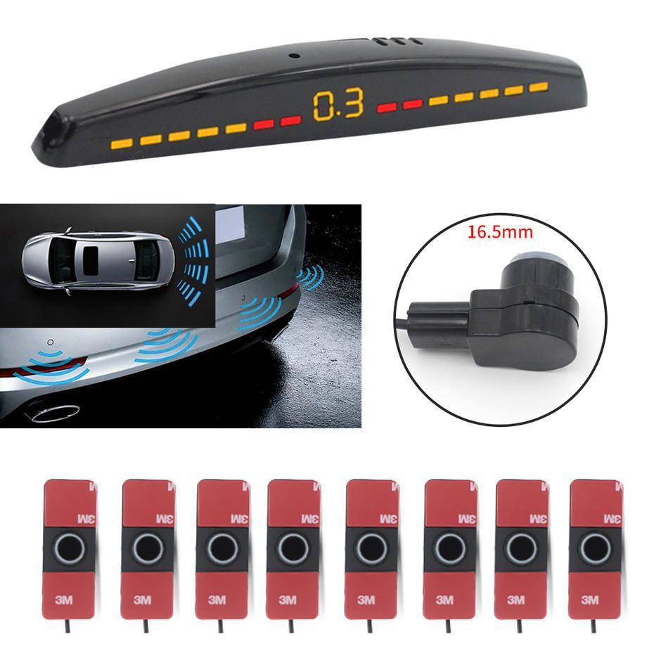 16 5mm 8pcs Parking Sensor System With Led Display Reverse System Pz309 8 In 2020 Sensor Car Camera System