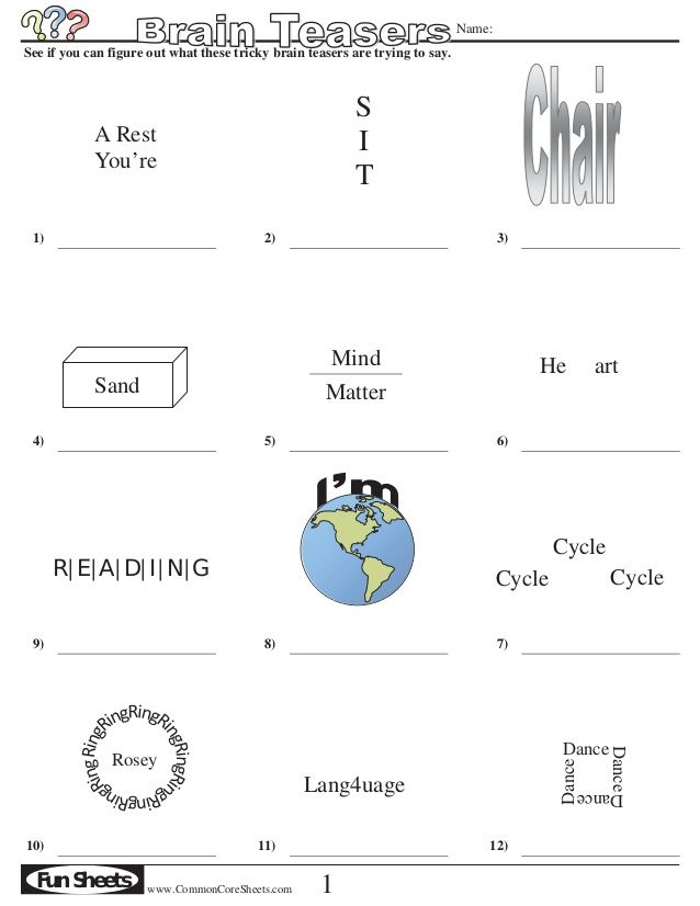 Brain teasers puzzles packet with answers | games for parents ...