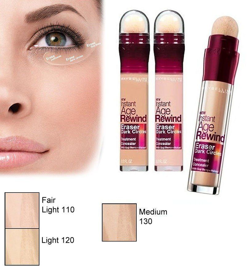 Erase Under Eye Circles With One Swoop Dark Circles Treatment Makeup Maybelline