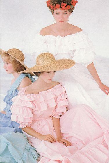 Laura Ashley Bridal fashion shoot, 1986