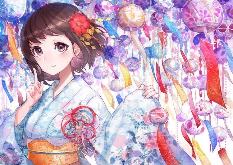 Anime girls wallpaper sakura wall mural japanese anime 3d