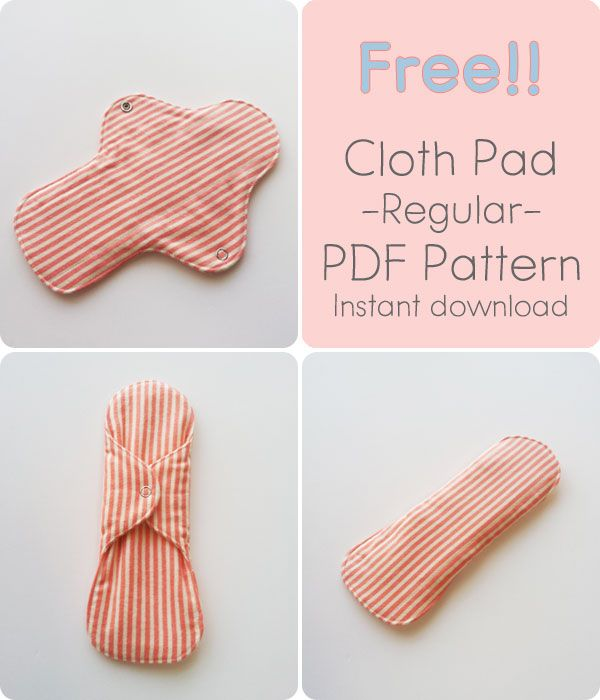 Free Pdf Pattern Cloth Pad Regular Handmade By Funny Rabbit