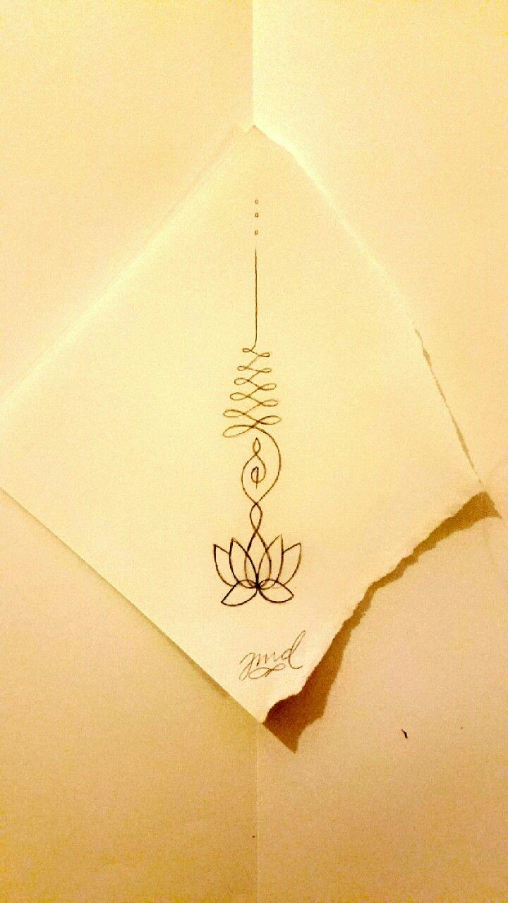 Unalome Buddhist Symbol Representing The Path To Reach