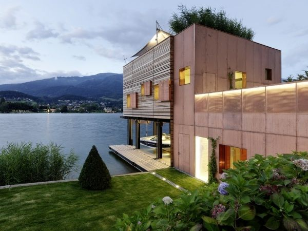 Modernes Passivhaus-am See MHM-architects