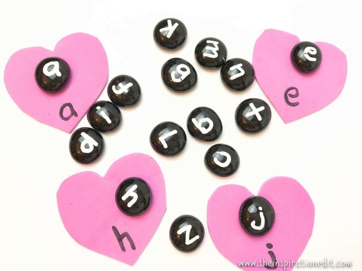 Phonics Activities For Valentines Day Heart Matching