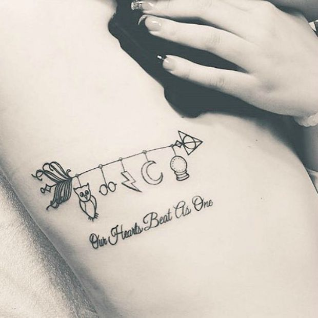 Pin By Mna On Feminine Tattoos Small Delicate Tattoos Harry Potter Tattoos Harry Potter Tattoo