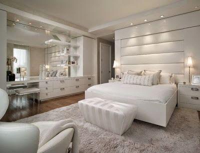 ديكورات حوائط غرف نوم بيضاء White Bedroom Design White Bedroom Set Luxurious Bedrooms