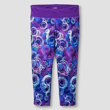 e3348f089bc60 Girls' Printed Performance Yoga Capri Purple - C9 Champion ...