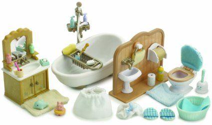 Sylvanian Families Country Bathroom Set Amazon Co Uk Toys Games Sylvanian Families Country Bathroom Bathroom Toys