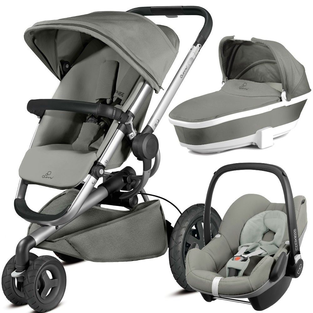 Quinny Buzz Xtra Pebble Travel System Package (Grey Gravel