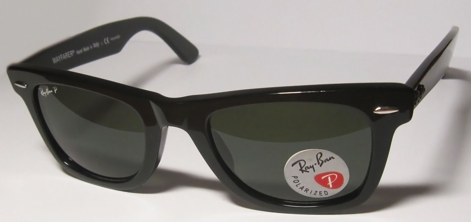 ray ban 2140 wayfarer polarized  Ray-Ban Original Wayfarer Black / Natural green Polarized RB 2140 ...