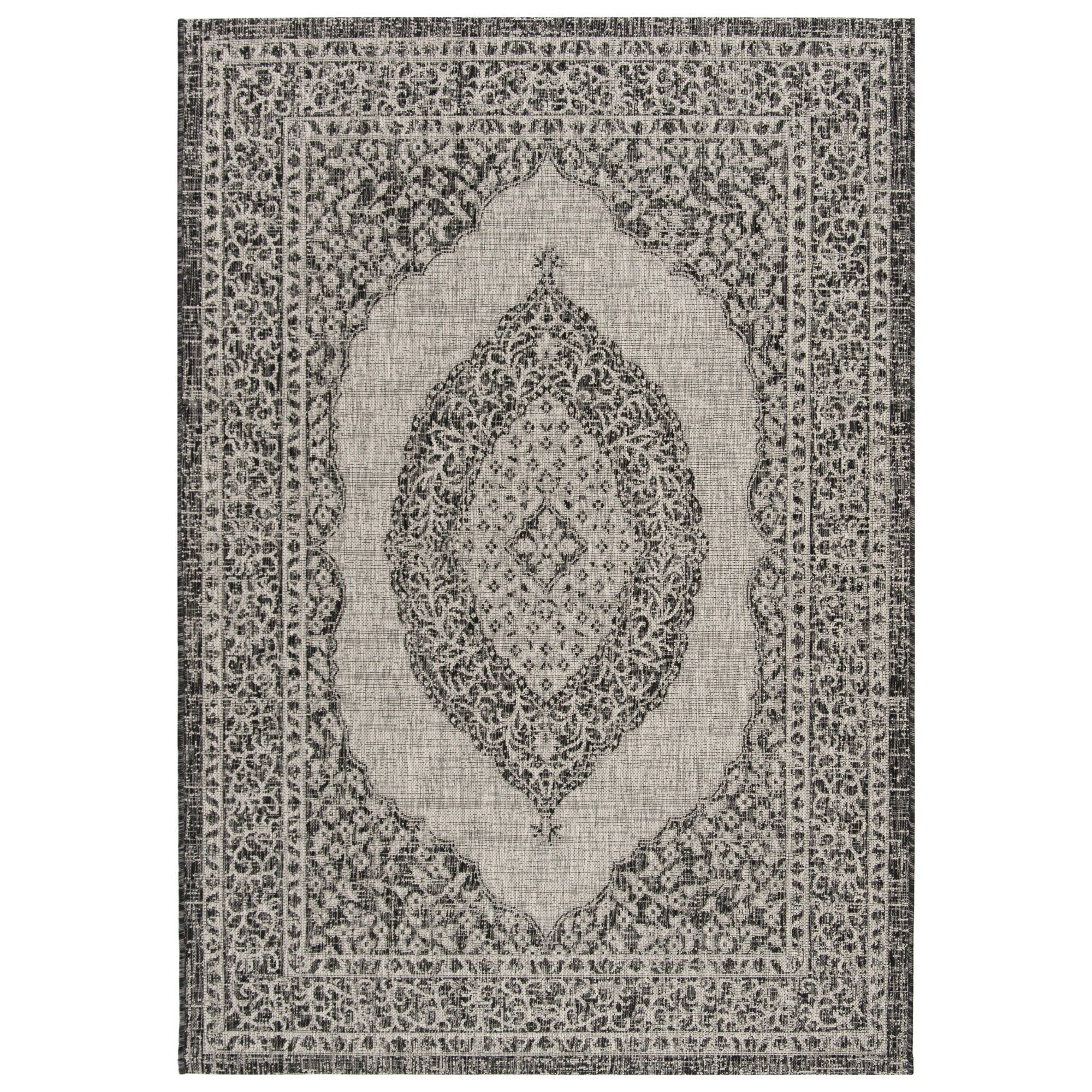 Abel 4 X 5 7 Indoor Outdoor Rug Black Safavieh Size 4 X5 7 In 2020 Indoor Outdoor Carpet Outdoor Rugs Patio Outdoor Carpet