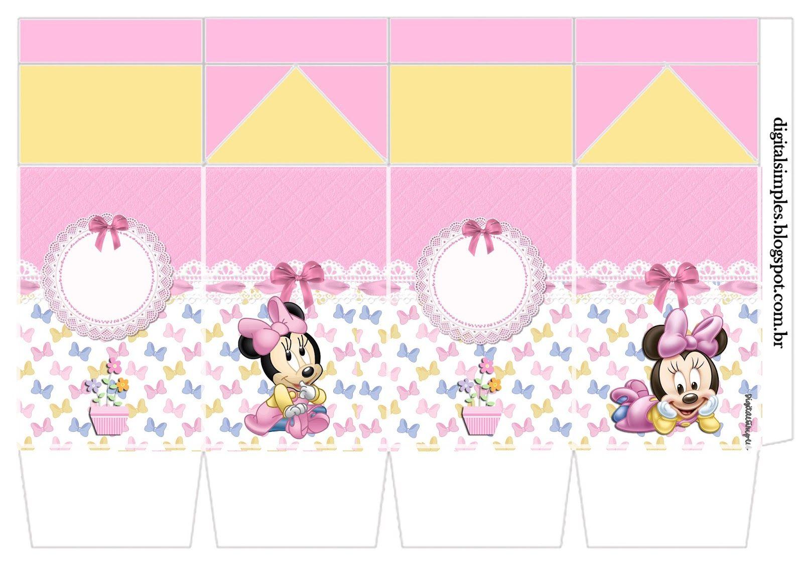 Kit De Personalizados Minnie Mouse Baby Para Imprimir Convites