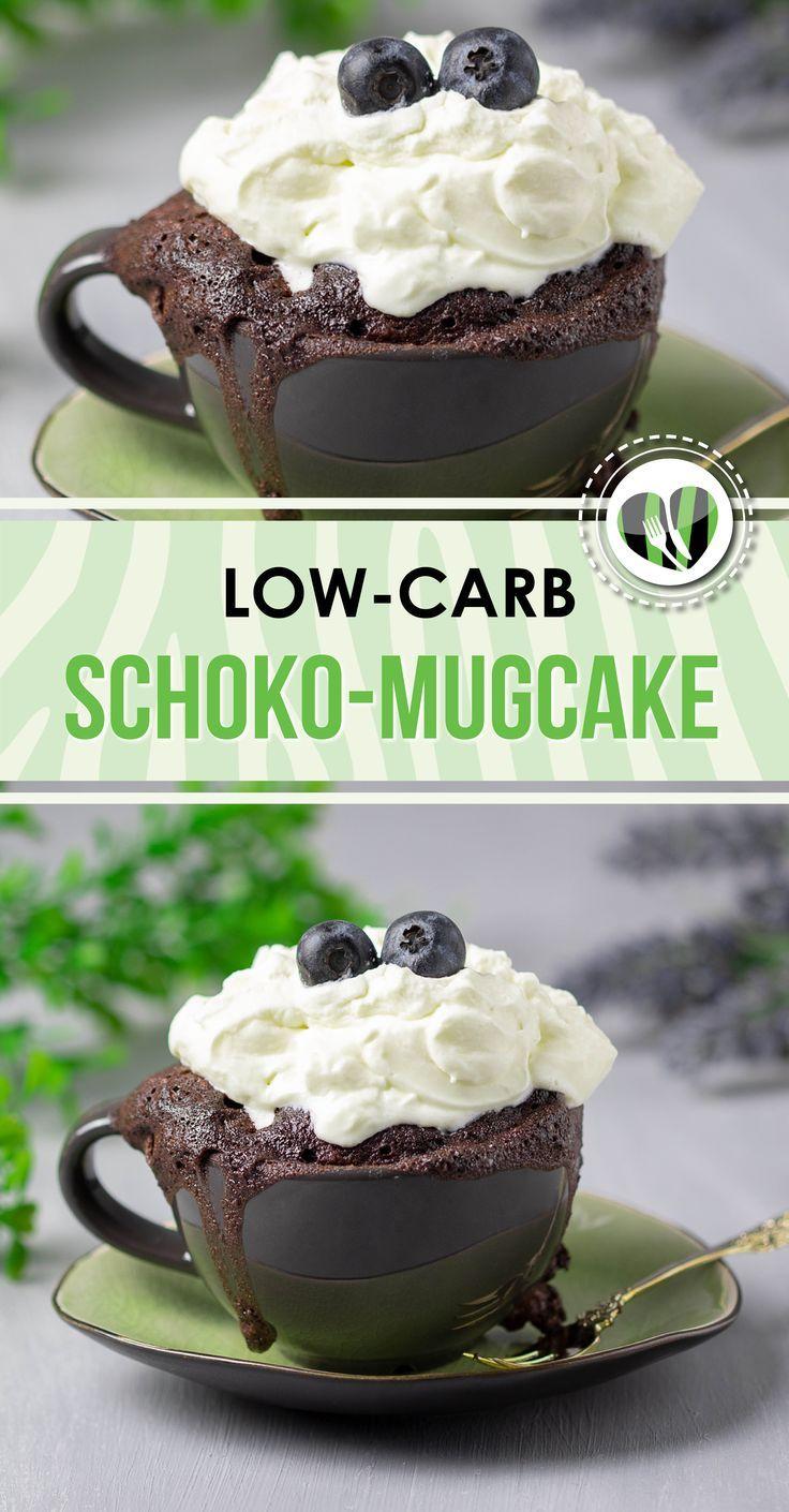Schoko-Mugcake mit Blaubeeren - Low Carb - glutenfrei - Ohne Zucker