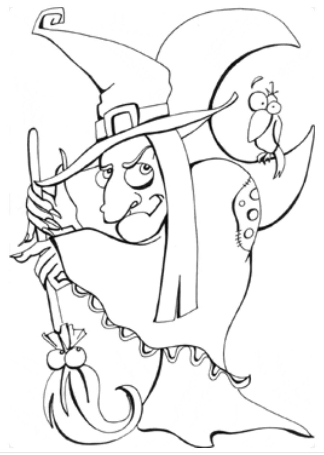 Pin by barbara beall on coloring pages pinterest witches