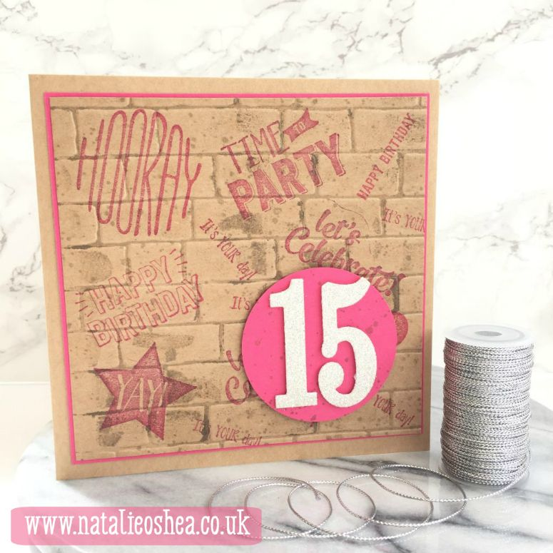 Stampin Up Teenage Birthday Card Pinterest Teenage Girl Birthday