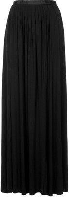 TOPSHOP Black Jersey Pleat Maxi Skirt