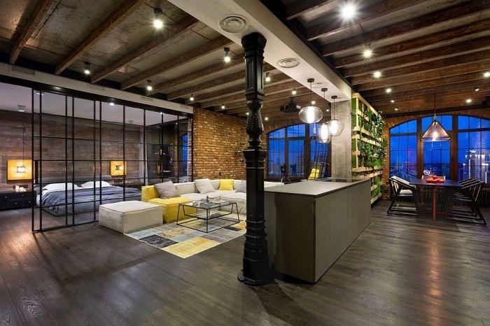 1001 photos et conseils pour r ussir la d co loft - Loft design industriel cloud studio ...