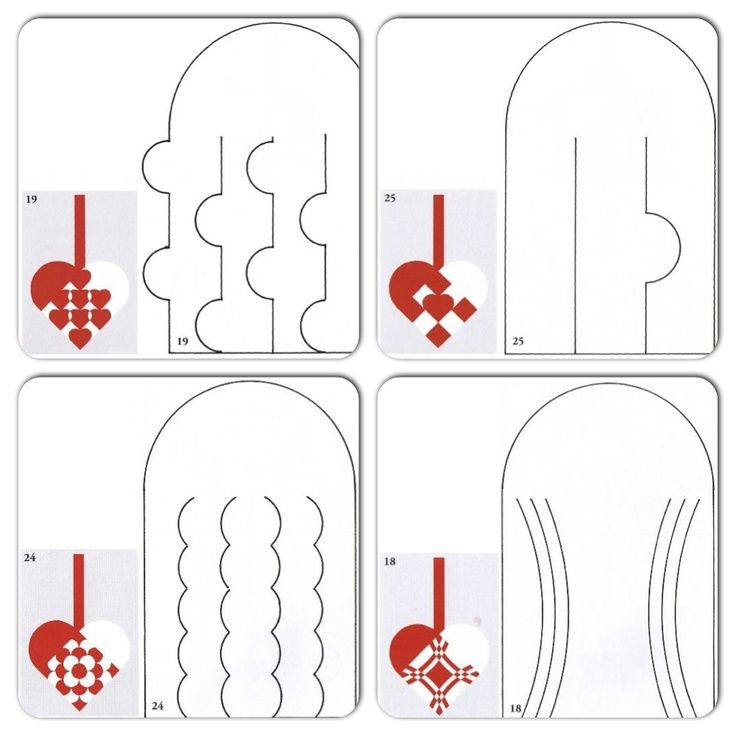 Danish Heart Patterns Heart Template Ornament Crafts Paper Hearts