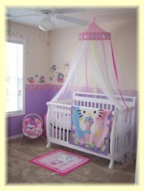 Princess Crib Bedding Baby Nursery Bedroom Hello Kitty Hello