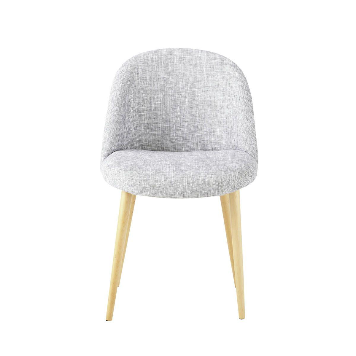 80,19- chaise vintage gris chin  mauricette chez maisons du monde ... - Chaise Tulipe Maison Du Monde