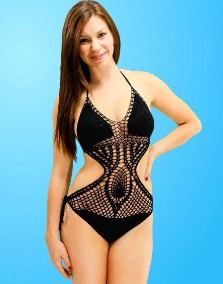 Handmade Crochet One Piece Monokini Bathing Suit by Bitzz on Etsy, $34.00