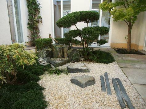 Zen Gardens, Japanese Gardens, Asian House, Garden Waterfall, Japan Garden,  Lush Garden, Garden Design, Terrace, Porch