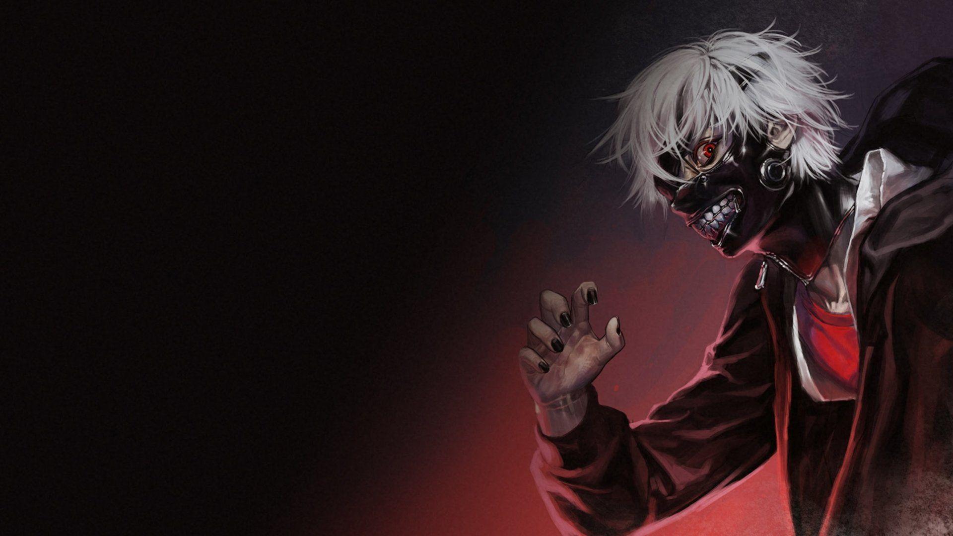 Anime Tokyo Ghoul Dark Anime Ken Kaneki Mask Creepy Wallpaper