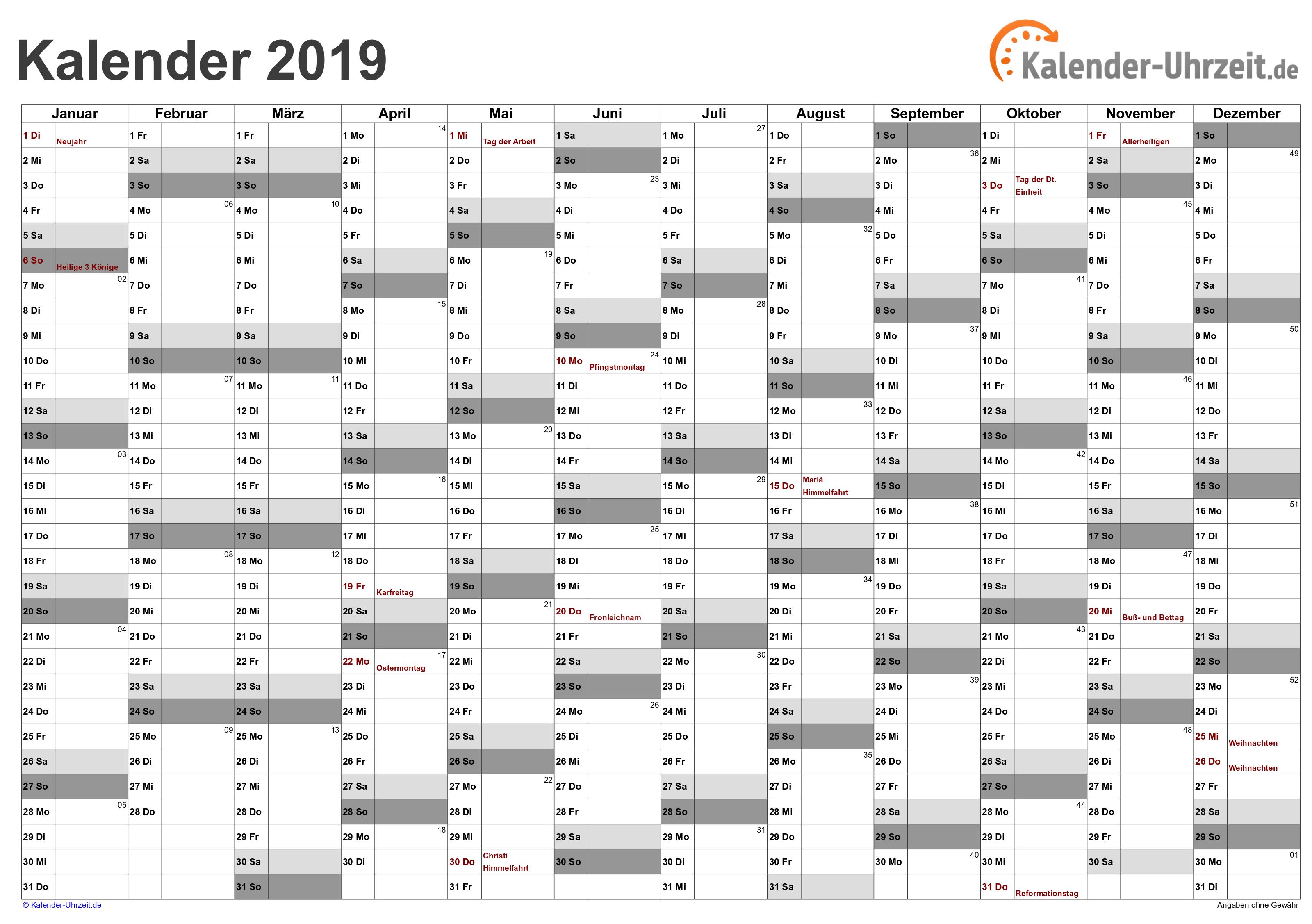 kalender 2019 zum ausdrucken gratis vorlagen zum download ausdrucken kalender 2019 kalender. Black Bedroom Furniture Sets. Home Design Ideas