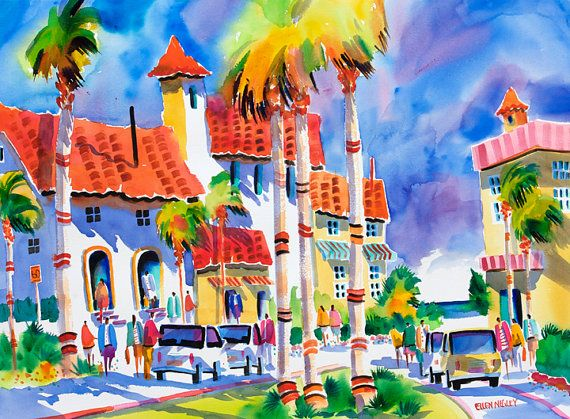 Venice Florida Art Venice Florida Watercolor Florida Art