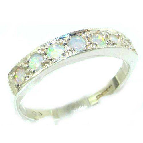 45a0871a60d Bague pour Femme en Or blanc 375 1000 sertie d  Opale - Taille - Tailles 50  à 64 disponibles