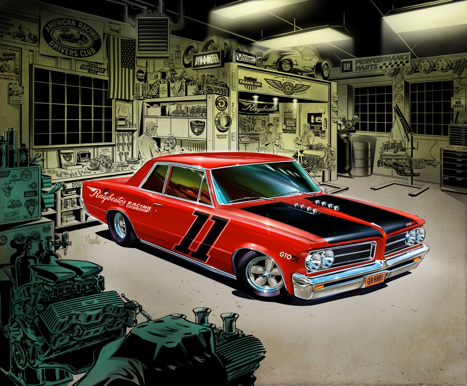 We all love our muscle cars check out your favorite muscle car man cave gear