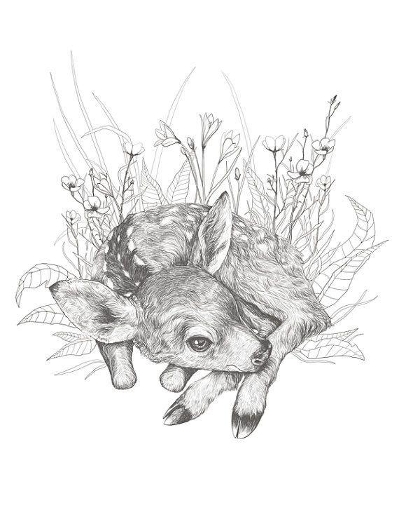 Pin de Gabrielle en Tattoo ideas.. | Pinterest | Ciervo y Animales