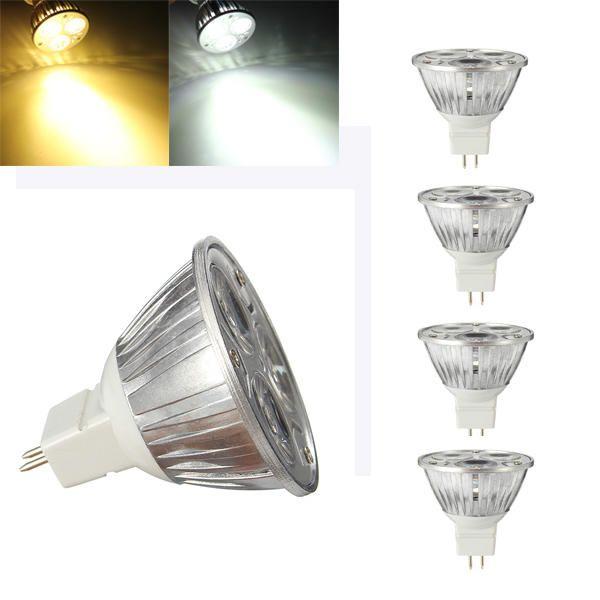 Zx Mr16 3w Led Pure White Warm White Spot Lighting Bulb 12v