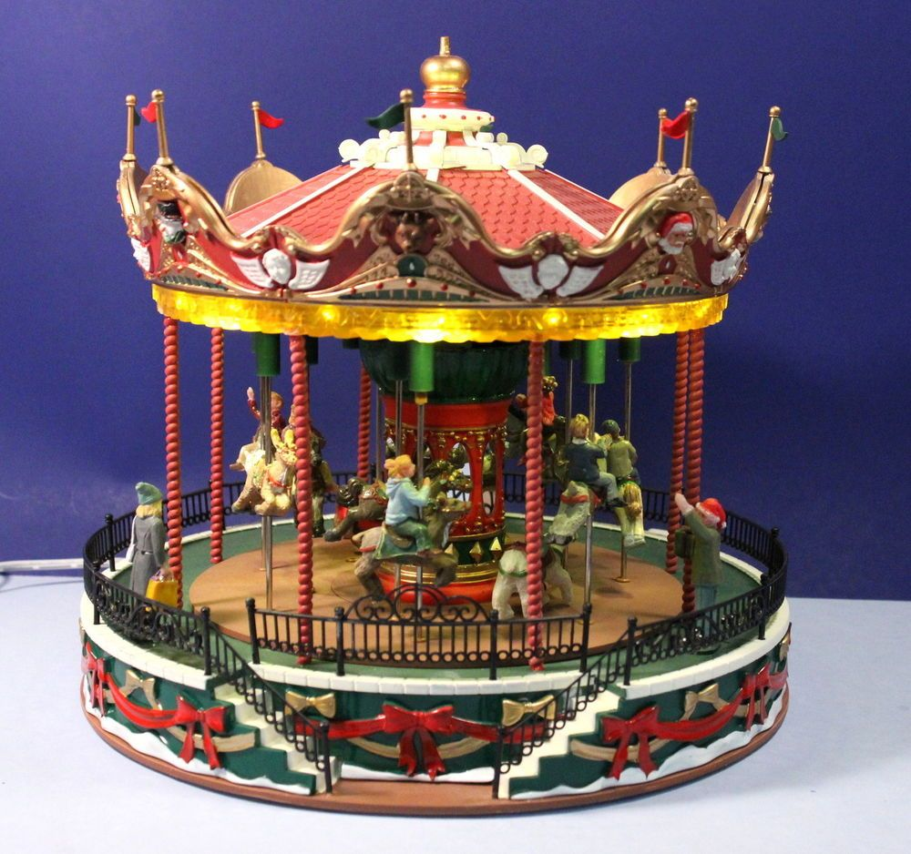 Lemax Carnival Santa Carousel Animated Lighted Amusement Park