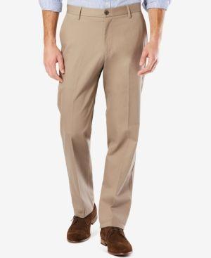 Dockers Mens Classic Fit Signature Khaki Lux Cotton Stretch Pants Pleated D3